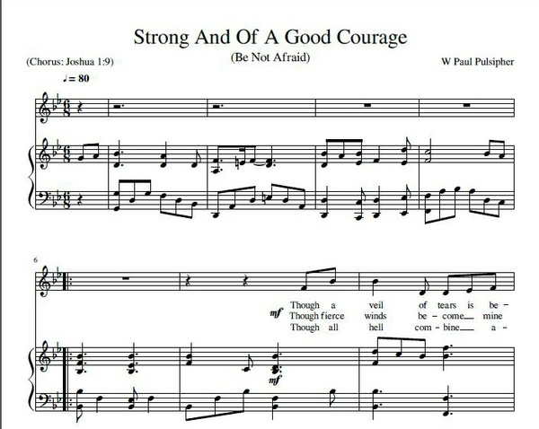 Strong And Of A Good Courage