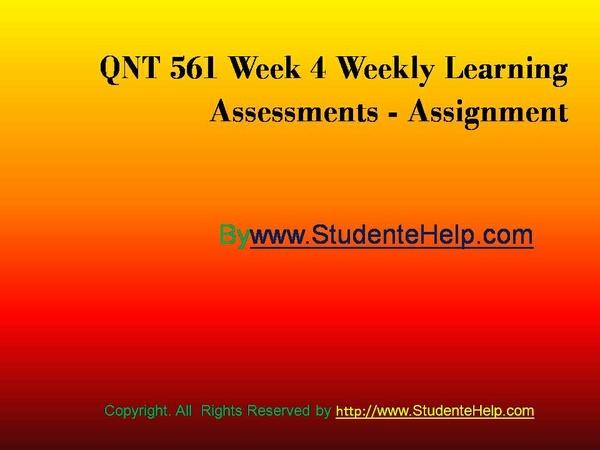 qnt 561 week 5 answers