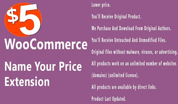 WooCommerce Name your Price 2.7.1 Extension