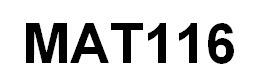 MAT 116 All DQs