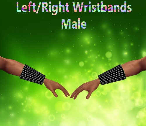 Left/Right Wristbands Male Mesh Catty Only!!!!