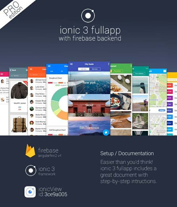 ionic 3 fullapp with firebase backend ProEdition