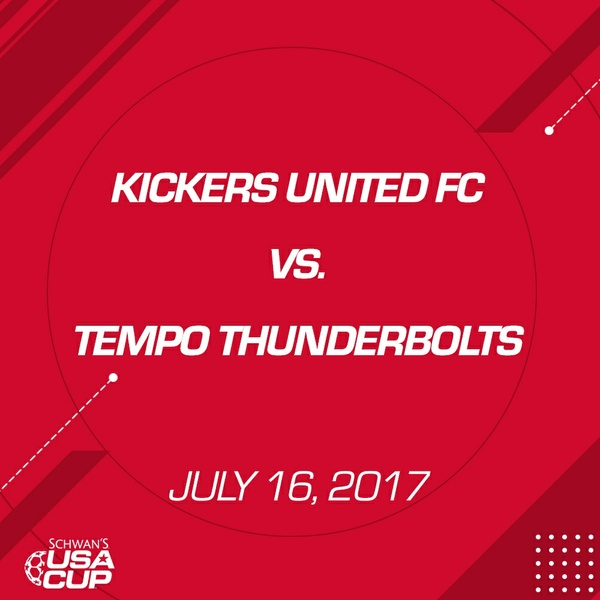 Boys U13 - July 16, 2017 - Kickers United FC V. Tempo Thunderbolts