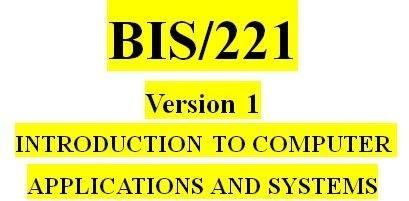 BIS 221 Week 1 Knowledge Check