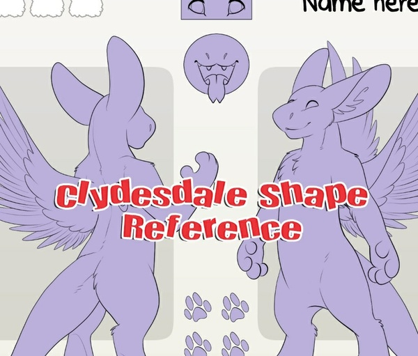 Clydesdale Shape Angel Dragon Reference