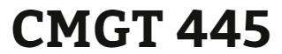 CMGT 445 Week 5 Individual: Continuing Education