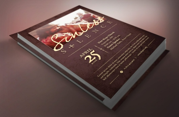 Sinless Silence Church Flyer Template
