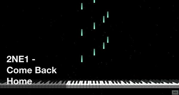 【미디 MIDI】 투애니원 2NE1 - Come Back Home   MIDI makernect