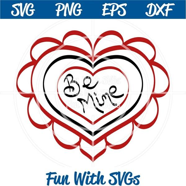 Be Mine, Valentine Ideas, SVG File, Printable, Cricut, Silhouette