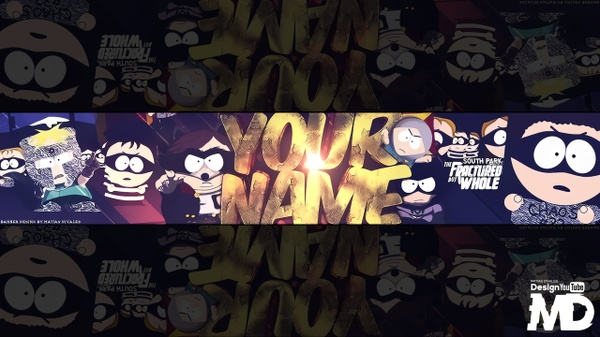 Banner South Park The Fractured But Whole | Psd + Lightroom c4d Download |