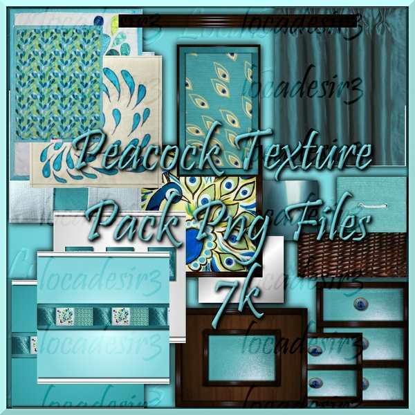 Peacock bedroom Textures