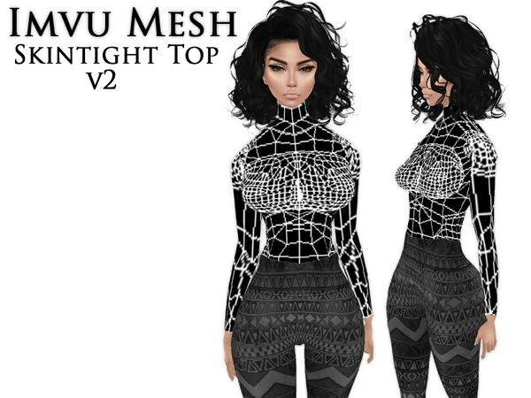 IMVU Mesh - Tops - Skintight V2
