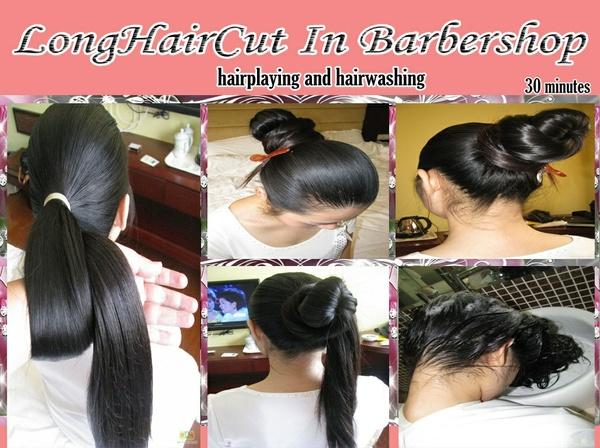 hairplaying and hairwashing