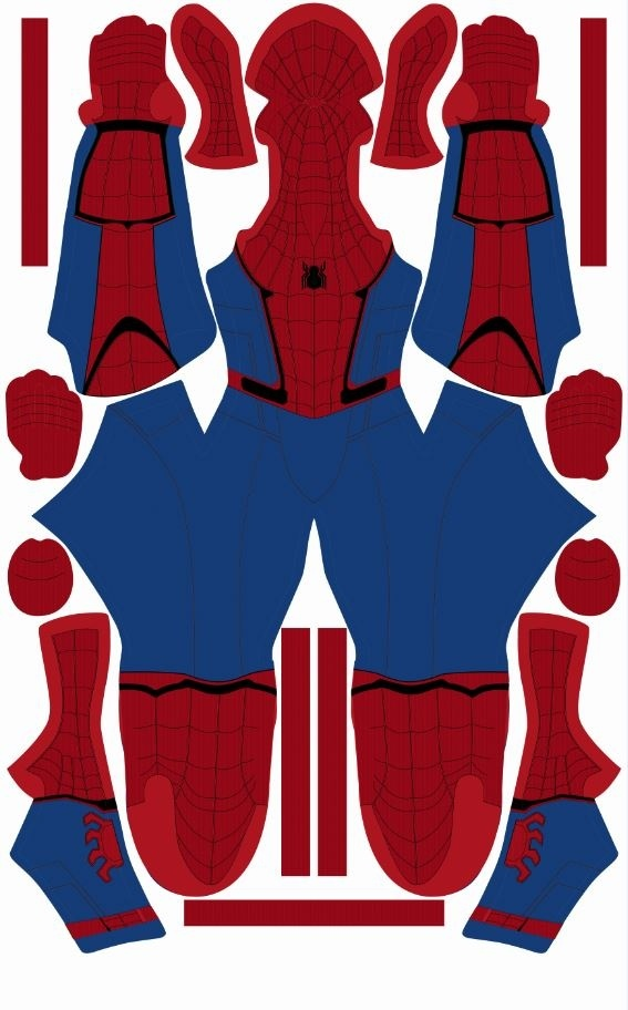 Spider-Man Homecoming Suit Pattern