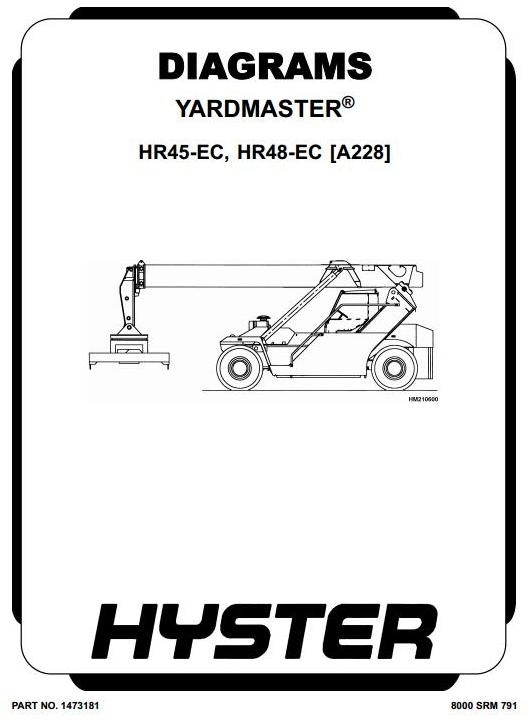 Hyster Diesel Counter Balanced Truck Type A228: HR45-EC, HR48-EC Workshop Manual