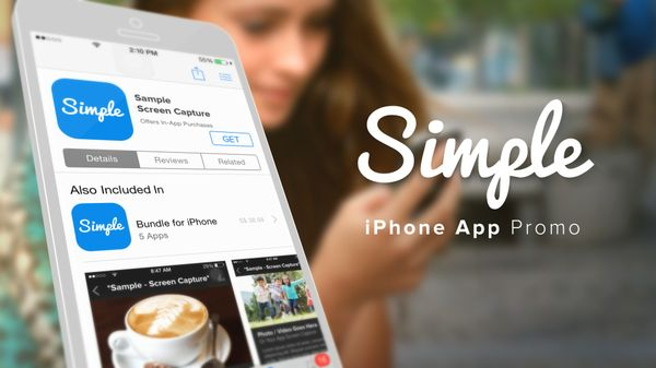 Simple iPhone App Promo