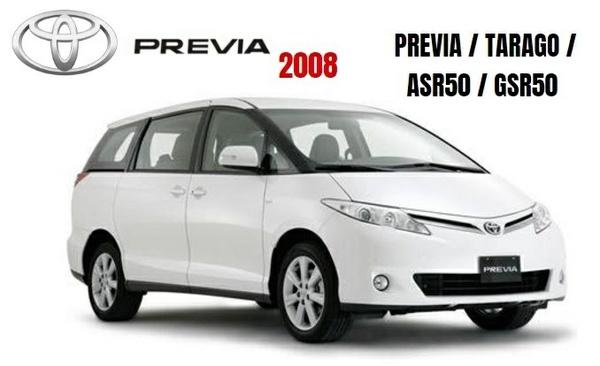 TOYOTA PREVIA / TARAGO / ASR50 / GSR50 GSIC WORKSHOP MANUAL