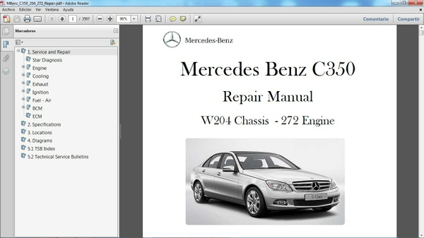 MERCEDES BENZ C350 W204 Manual de Taller - Workshop Repair