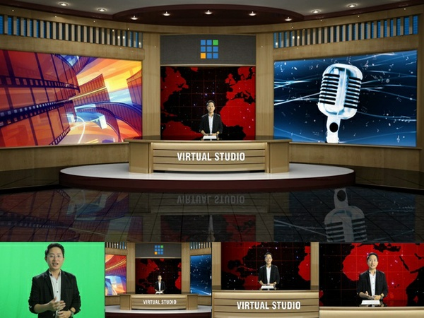 vMix Virtual Set Studio - Company style 01