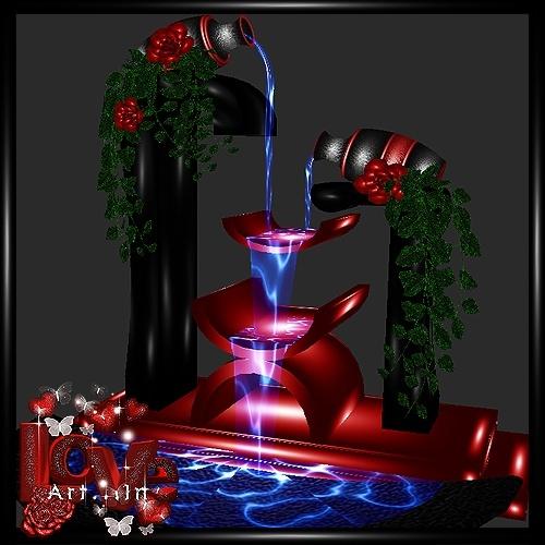Romantic Fountain Mesh