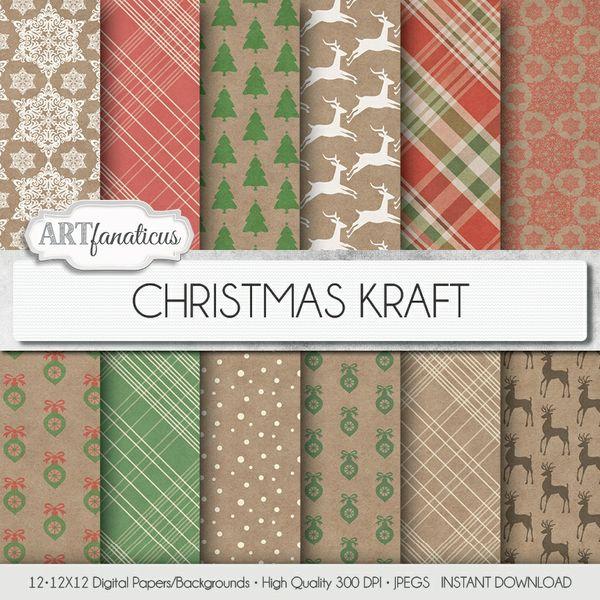 CHRISTMAS KRAFT - DIGITAL PAPER