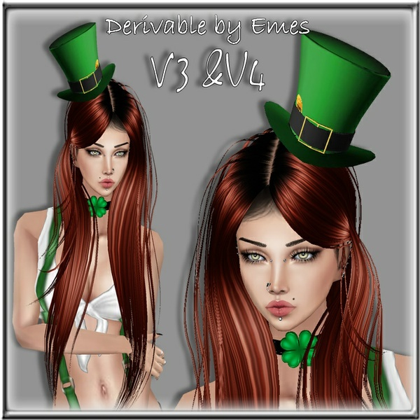 ST.PATRICK'S DAY TOP HAT MESH FEMALE 2018(4 MESHES)