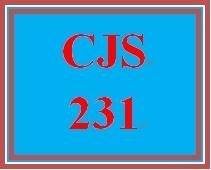 CJS 231 Entire Course