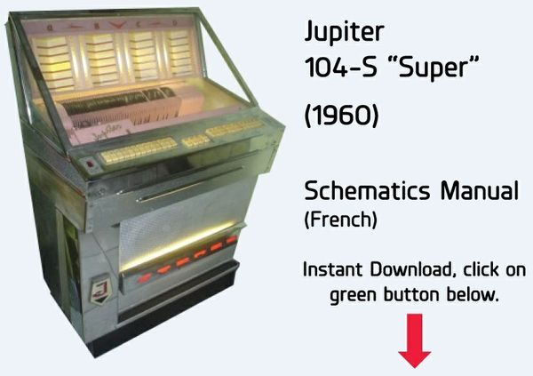 "Jupiter   104-S ""Super""   (1960)        Schematics Manual  (French)"