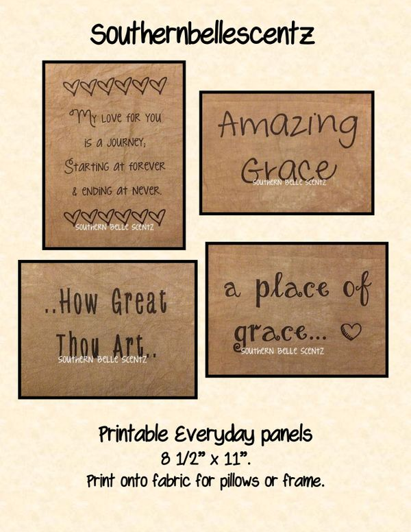 Everyday Printable Feedsack Panels E Pattern
