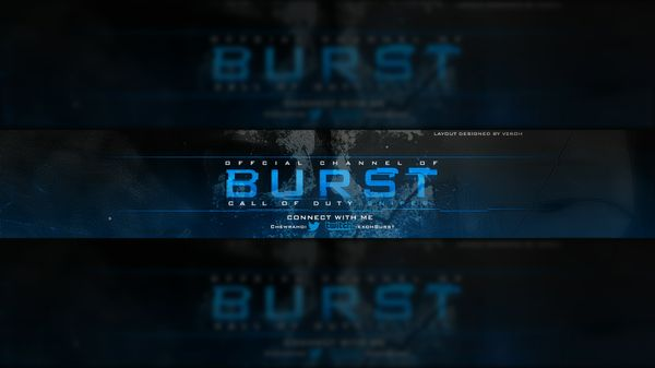 Burst YouTube Banner (PSD)