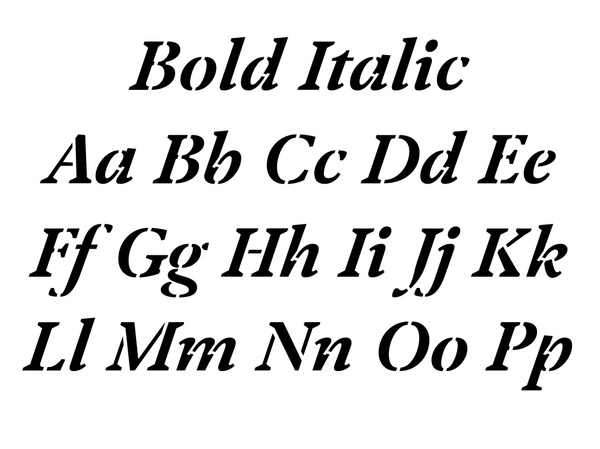 Klod AM Bold Italic