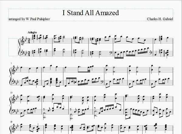I Stand All Amazed - Piano Solo