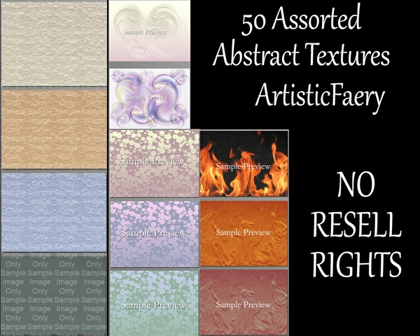 50 Assorted Abstract Textures