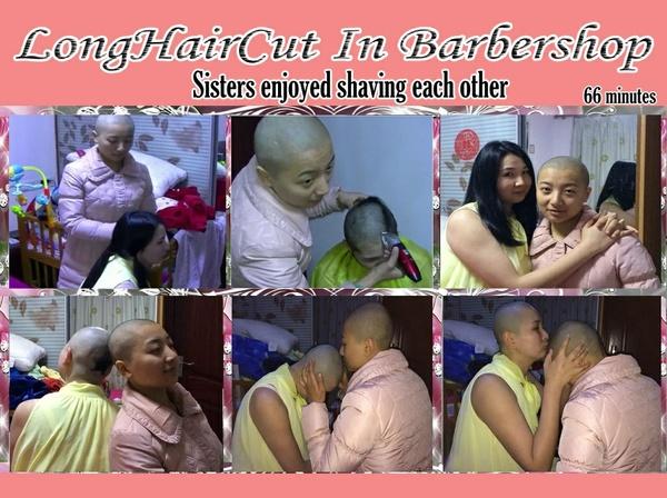 Sisters enjoyed shaving each other