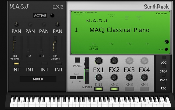 M.A.C.J EX12 Synth Rack