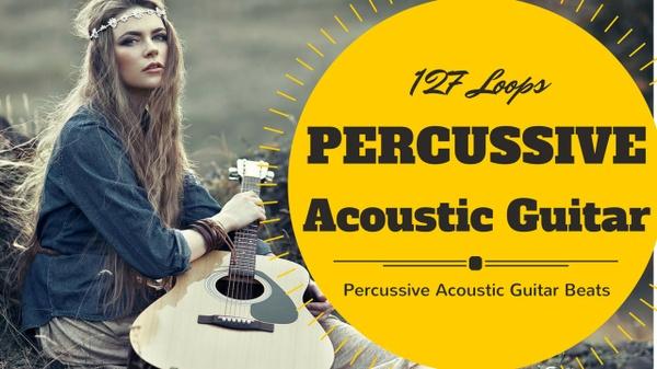 127 Percussive Acoustic Guitar Beats Vol. 1 - Wav & Apple Loops