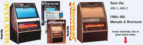 "Rock-Ola 490-1 ""Super Sound 1"" 490-2 ""Super Sound 2"" (1984-86)"