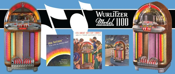 Wurlitzer Model 1100 The Bomber (1948) Service Manual & Parts List with Brochures