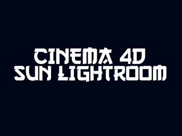 Very nice Cinema 4D SUN LIGHTROOM