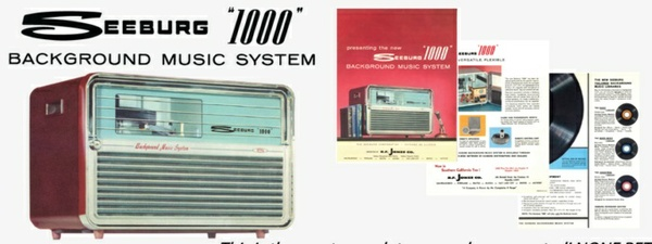 Seeburg 1000, Background Music System, BMS2, 1963, Engineer's Manual & Brochure