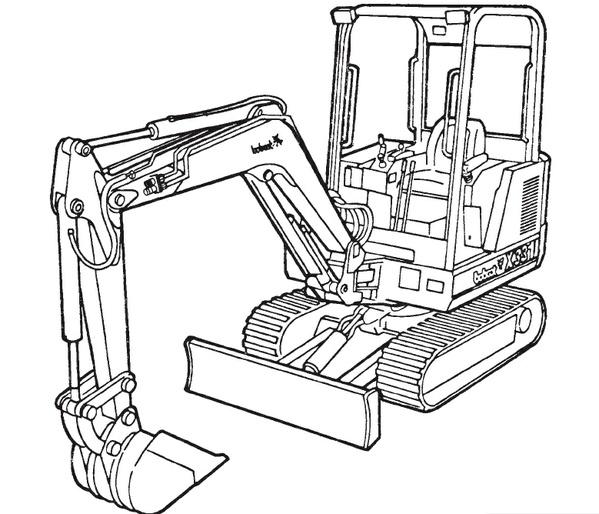 Bobcat X 331 Compact Excavator Service Repair Manual Download