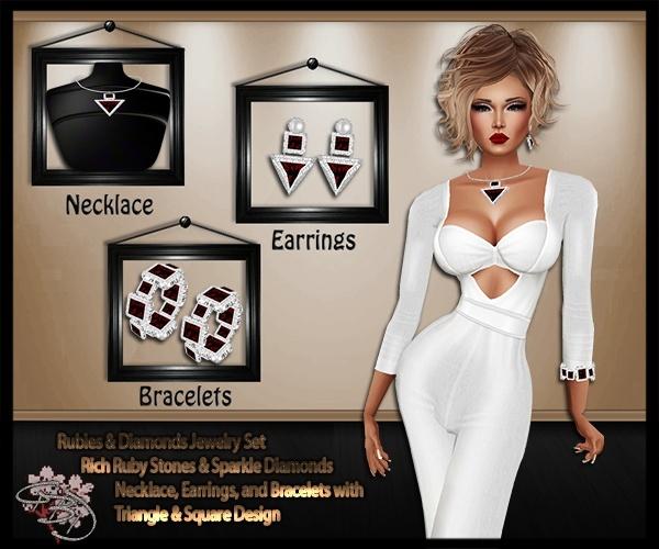 Ruby's & Diamonds Jewelry Mesh Set