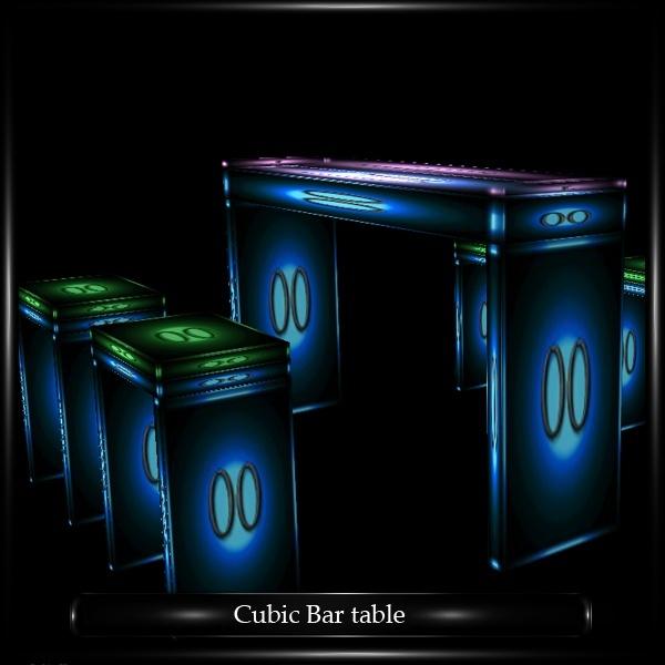 CUBIC BAR TABLE