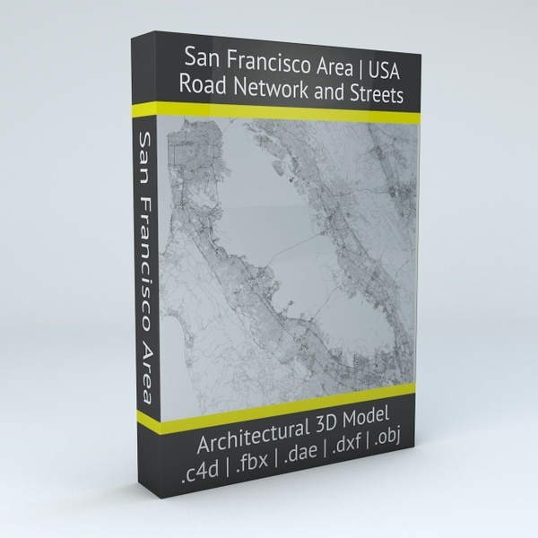 San Francisco Area Road Network Architectural 3D Model