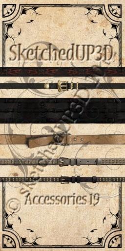 Accessories 19 - Belt Textures