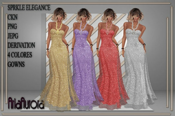 SPARKLE ELEGANCE GOWNS ,NO RESELL!!