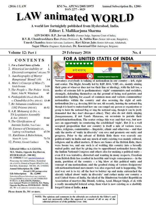 LAW ANIMATED WORLD, 29-02-2016 issue