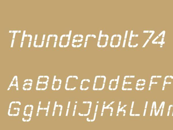 Thunderbolt74 Regular Italic