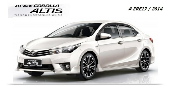 TOYOTA COROLLA ALTIS 2014 WORKSHOP MANUAL.