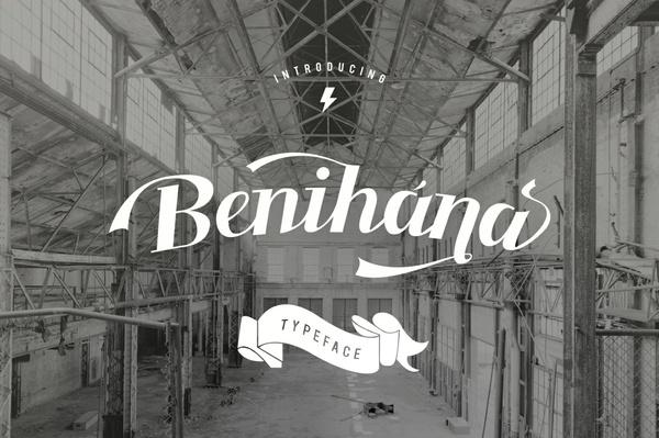 Benihana Font + Vintage Logos